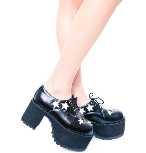 T.U.K. Star Nosebleed Heels
