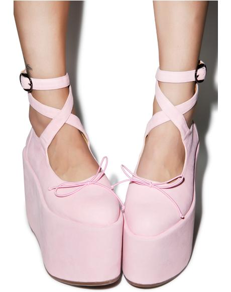 Ballet Bopper Blush Platforms
