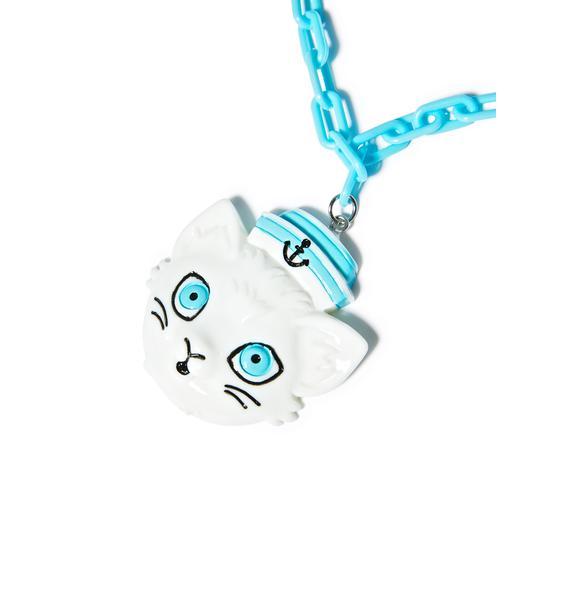Sourpuss Clothing Sailor Kitten Necklace