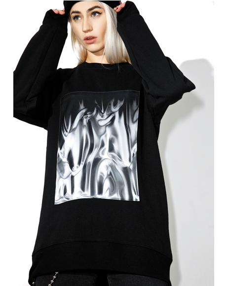 Liquid Silver Sweatshirt