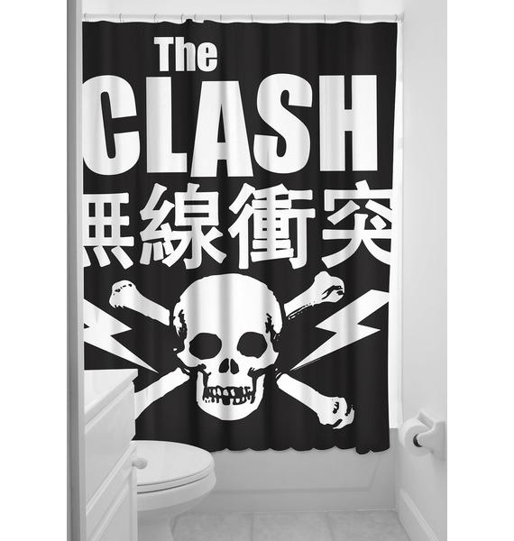 Sourpuss Clothing The Clash Shower Curtain