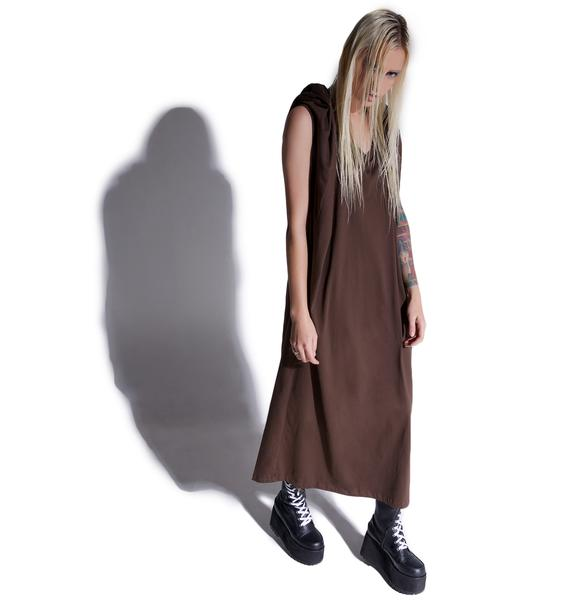 MNML Cryptic Hooded Maxi Dress