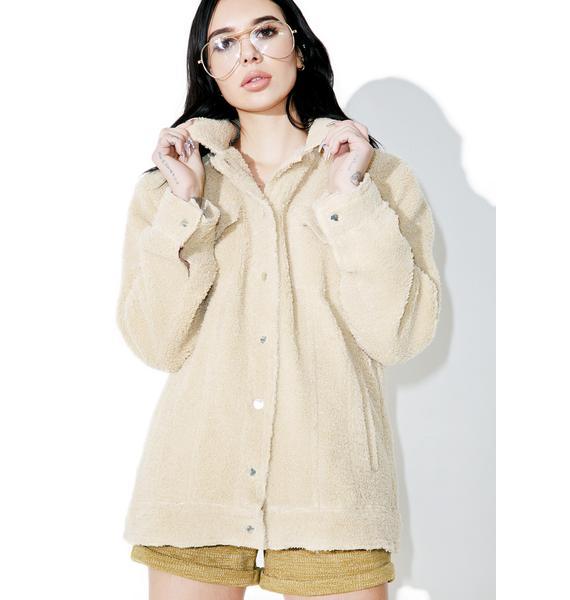 Buttermilk Shearling Jacket