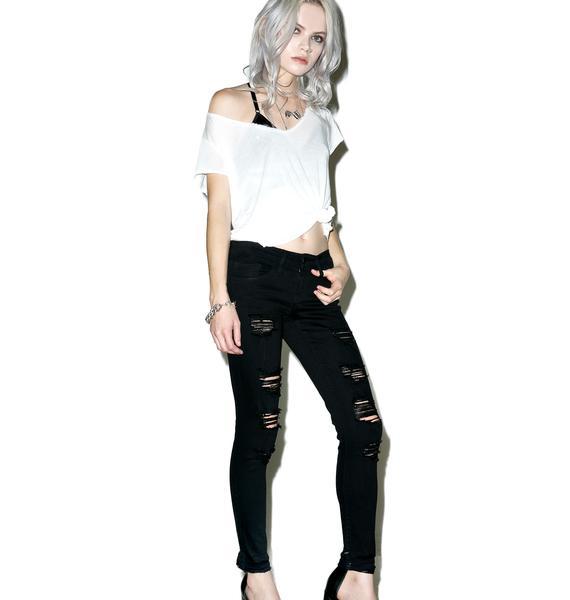 Sabotage Distressed Skinny Jeans