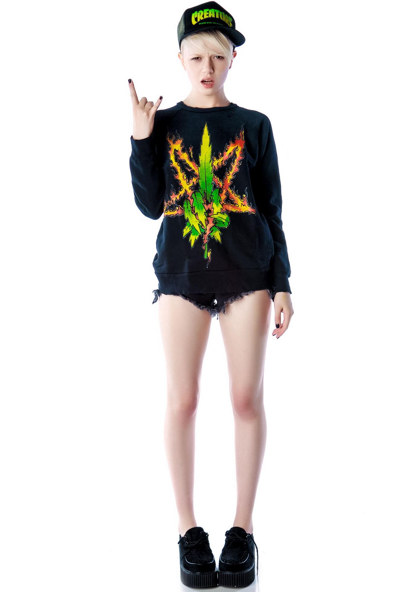 UNIF Burn Me Weed Sweatshirt