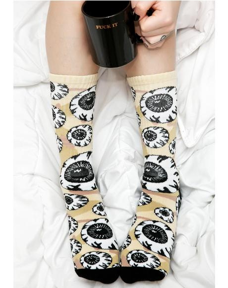 Camo Keep Watch Pattern Socks