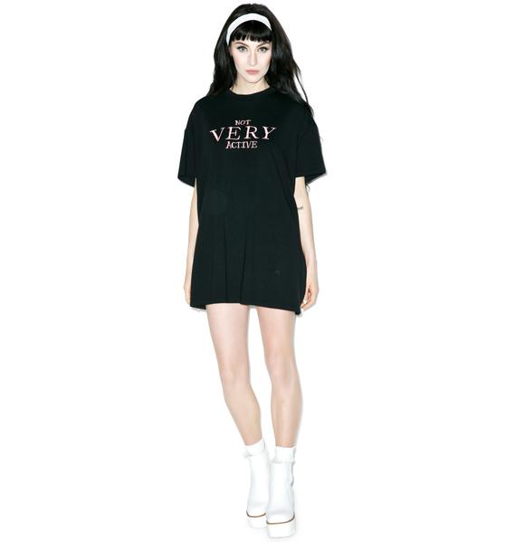 Lazy Oaf Not Very Active Oversize Tee