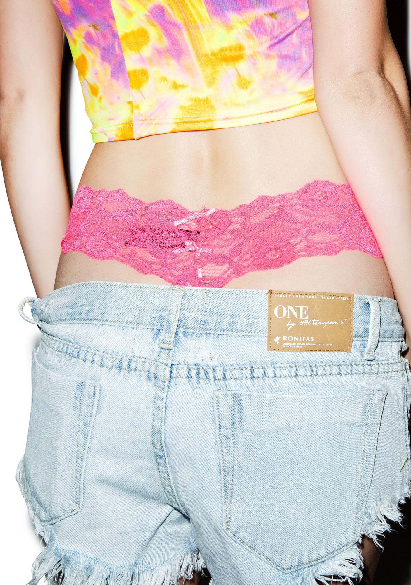 Fancy Schmancy Lace Thong