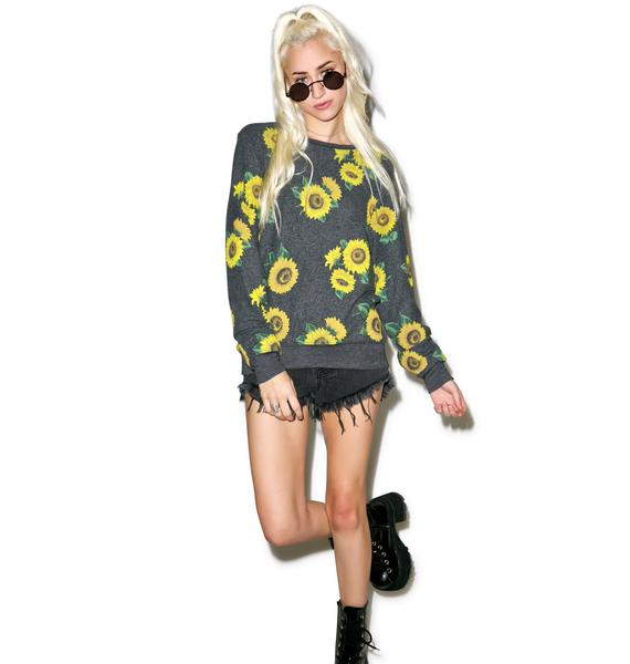 Wildfox Couture Contempo Sunflower Baggy Beach Jumper
