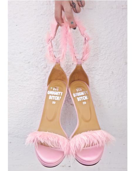 Pynk Furbae Heels