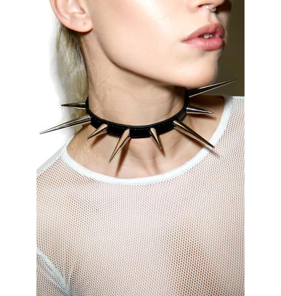 NecroLeather Danger Says Spiked Choker