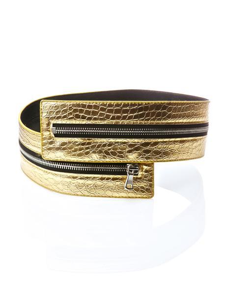 Gold Bellatrix Zipper Belt