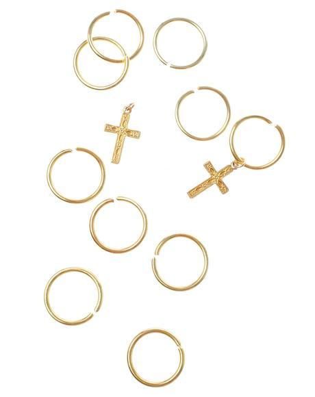 Cross Aeon Hair Rings