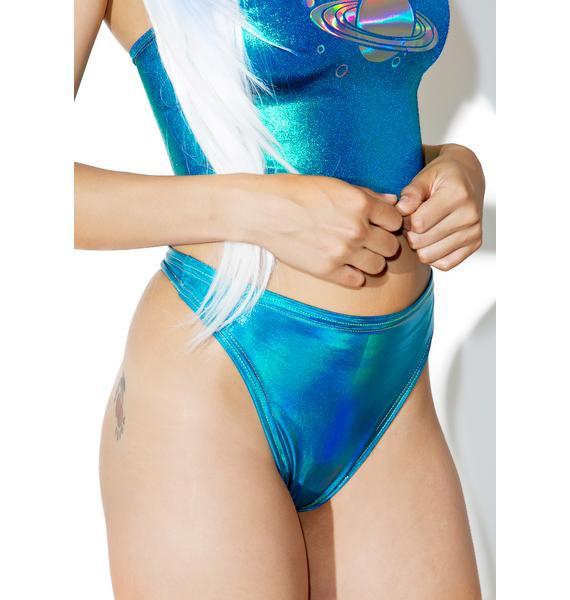 Jade Clark Hologram High Shine Thong Bikini