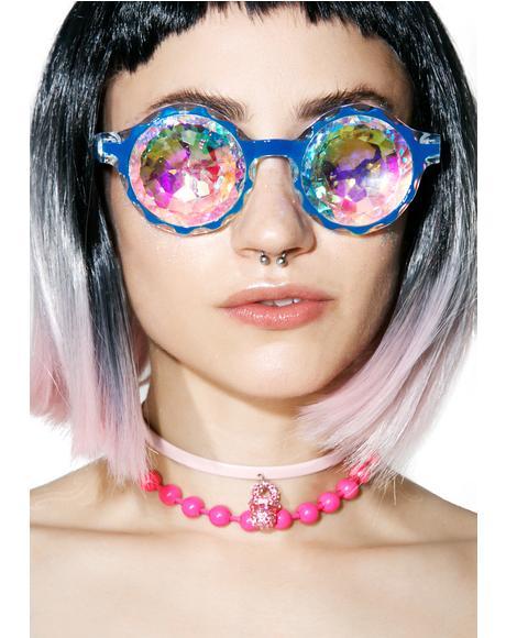 Crown Blue Kaleidoscope Glasses