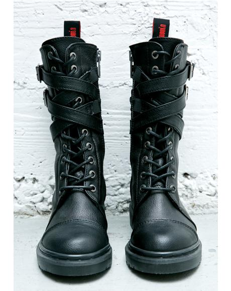 Rival Strappy Combat Boots
