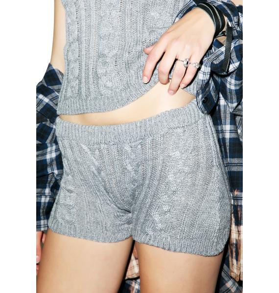 Sophie Cable Knit Shorts