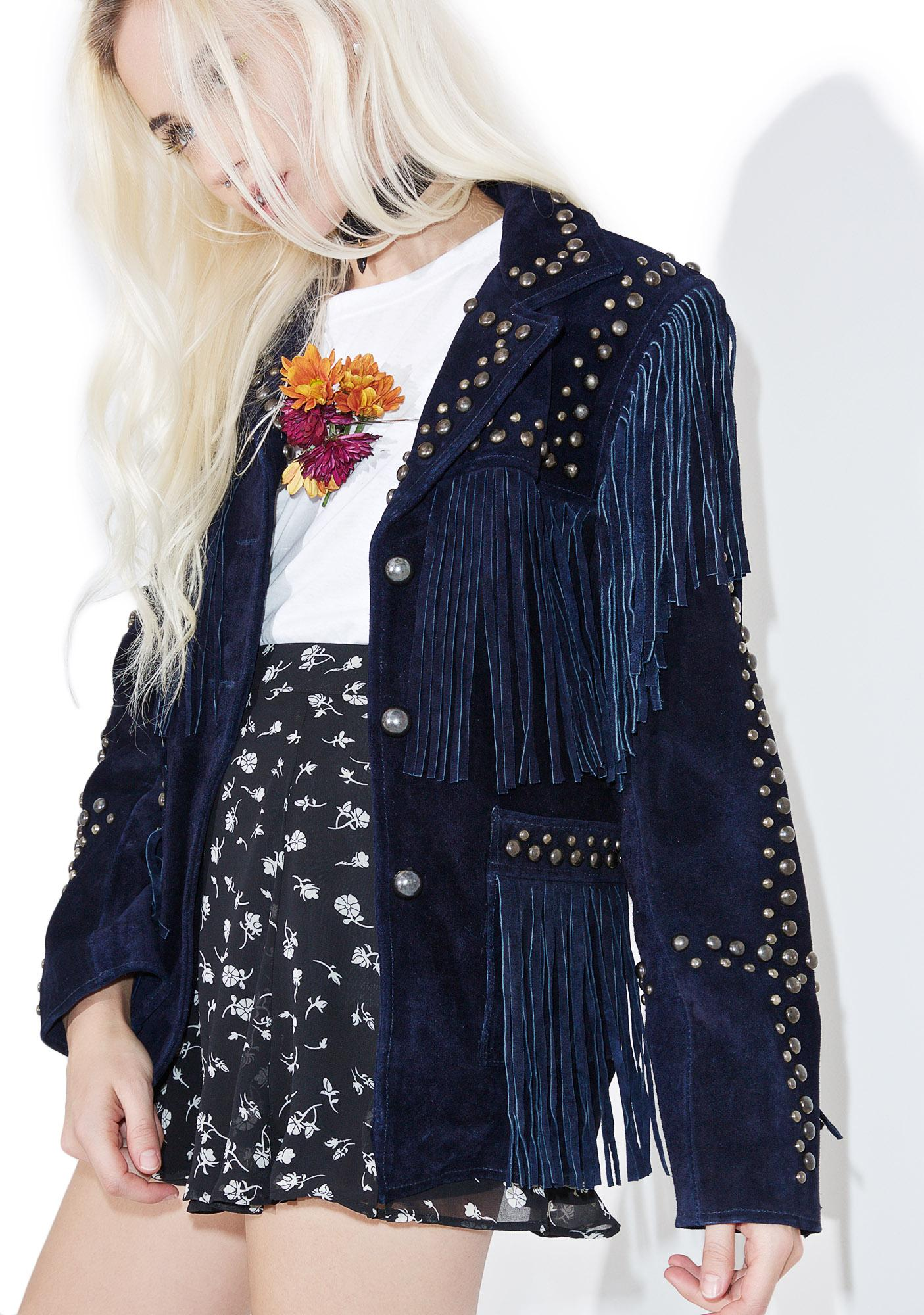 For Love & Lemons Jameson Suede Jacket