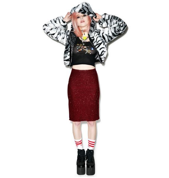 Fuzzy Wuzzy Midi Skirt