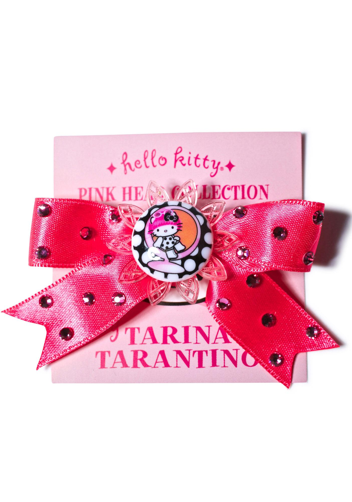 Tarina Tarantino Sitting Kitty Satin Bow Clip