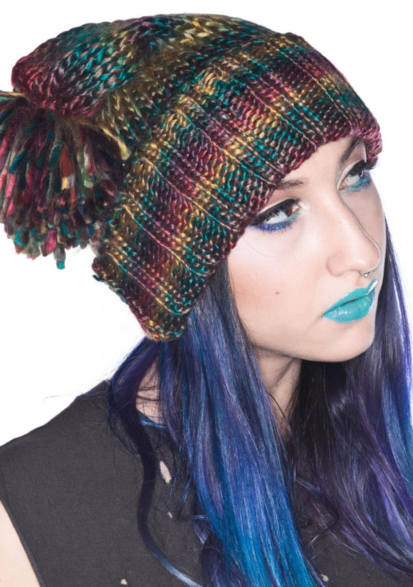 Halfman Romantics Rainbow Knit Cap