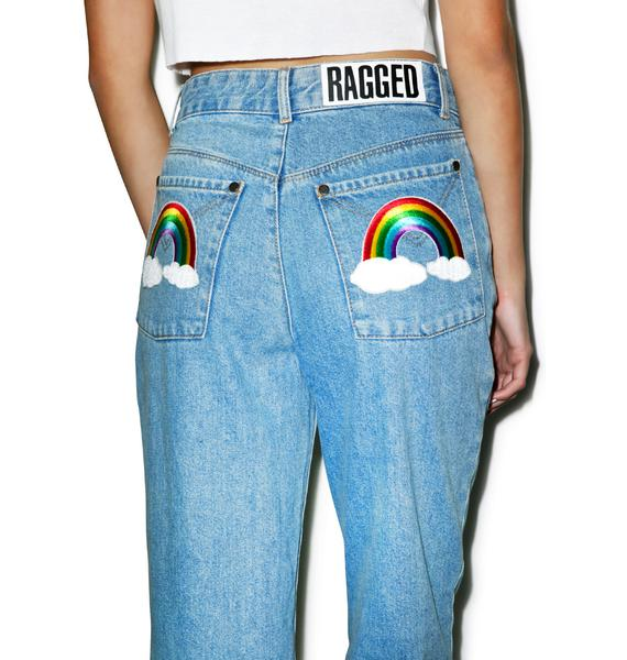 The Ragged Priest Over It Mom Jeans