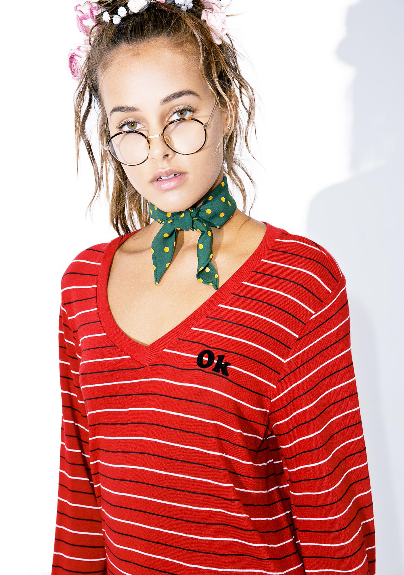 Wildfox Couture Not OK Baggy Beach Jumper