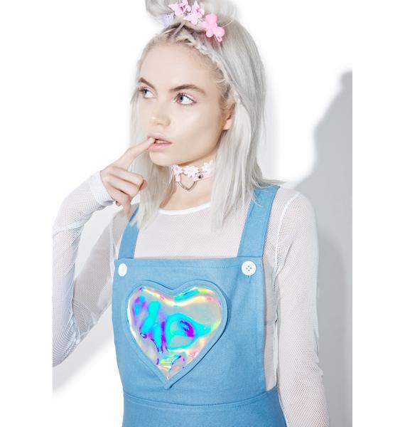 Denim Electra Heart Overall Dress