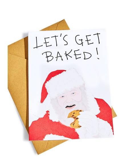 Let's Get Baked Christmas Card