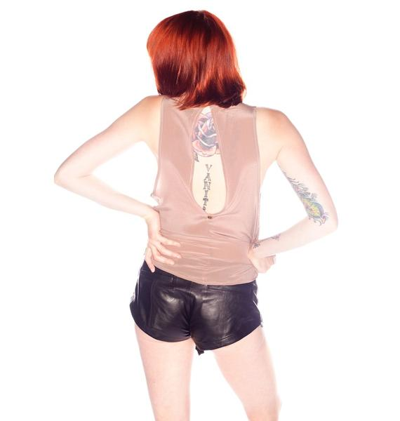 One Teaspoon Storm Rider Leather Shorts