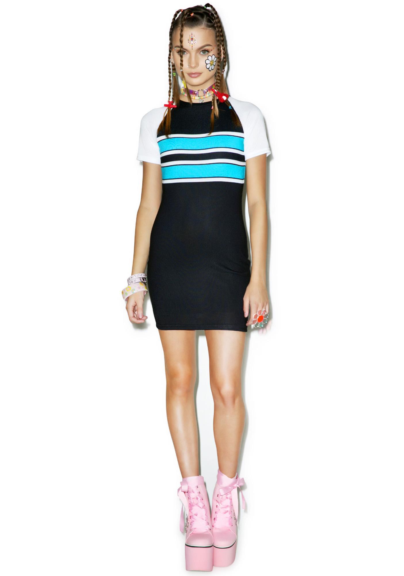 Varsity Bluez Bodycon Dress