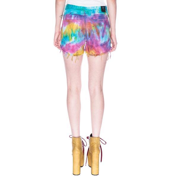 One Teaspoon Tie Dye Romeos Shorts