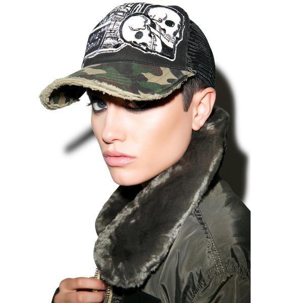 Lauren Moshi Jilly Combo Patch Trucker Hat