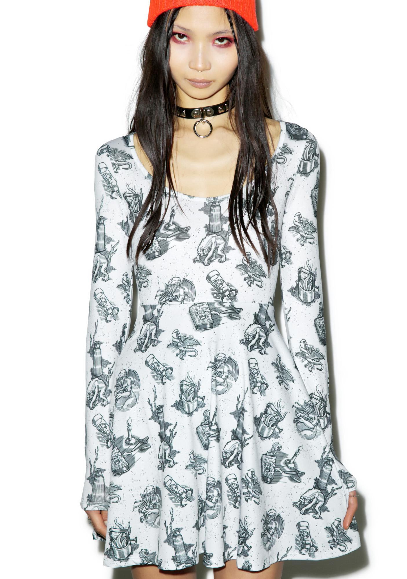 Sourpuss Clothing Love Crafty Skater Dress