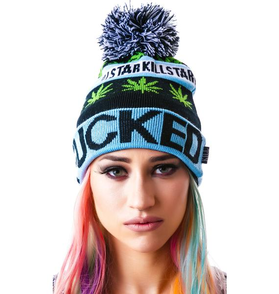 Killstar Fucked/Wasted Pom Pom Beanie