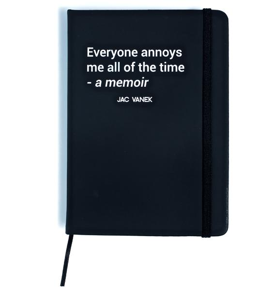 Jac Vanek Memoir Hardcover Notebook