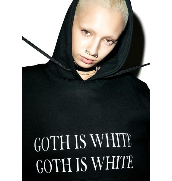 W.I.A Goth Is White Hoodie