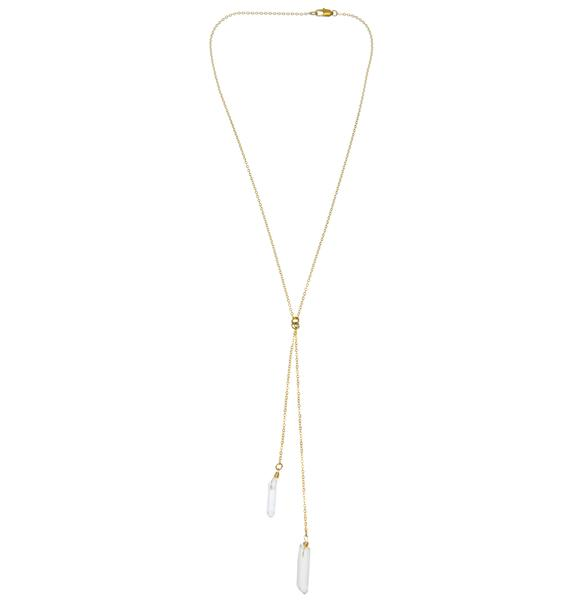 Ebb & Flow Stagger Lee Quartz Necklace