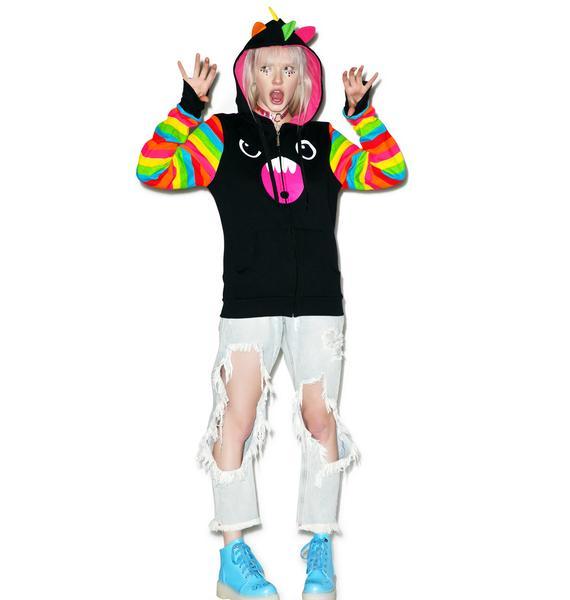 Iron Fist X So So Happy Siq Rainbow Sleeves Hoodie