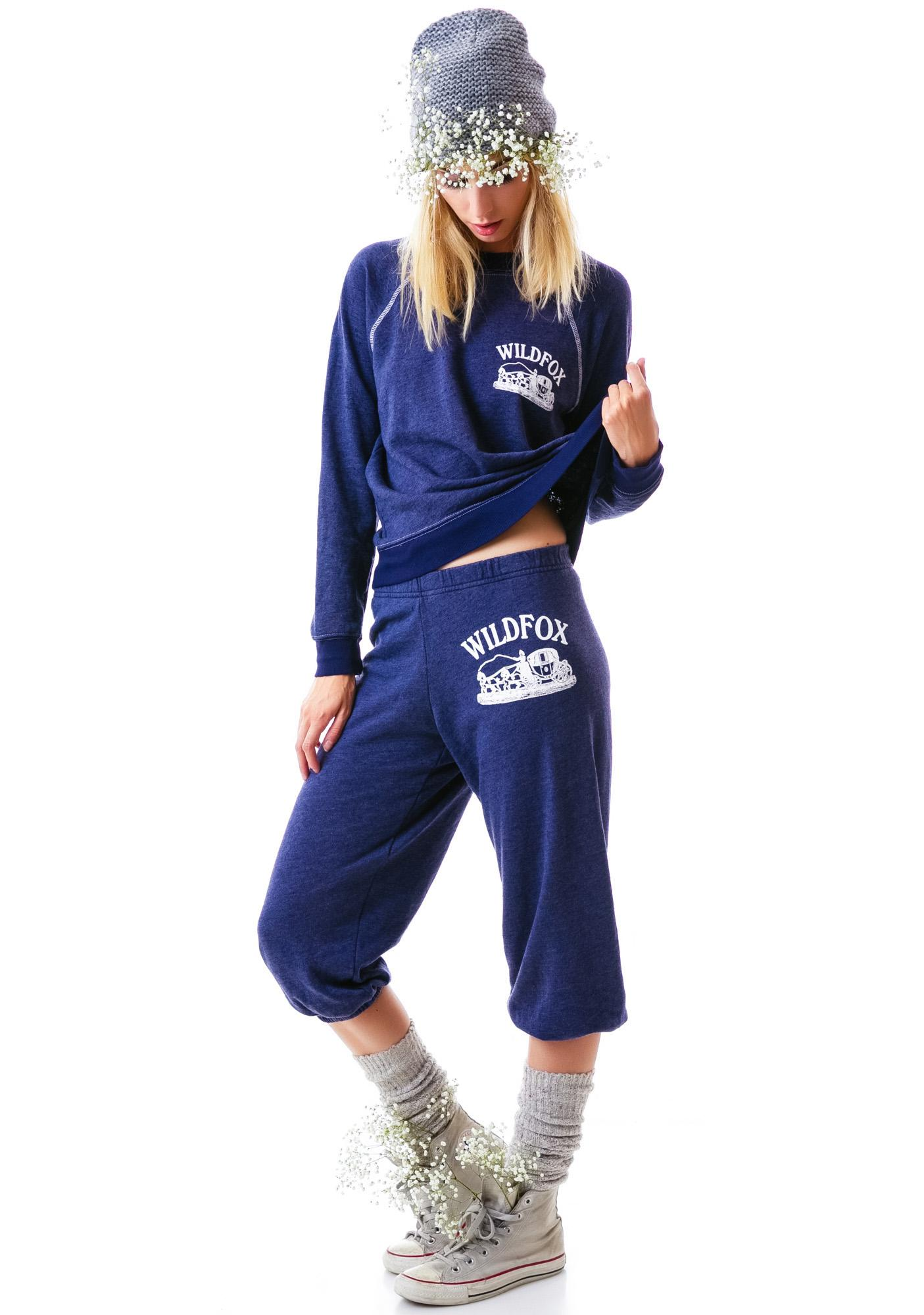 Wildfox Couture Carriage Ride Cropped Morning Sweats