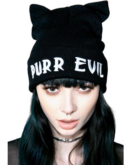 Purr Evil Beanie