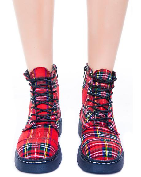 Plaid 7 Eye Boot