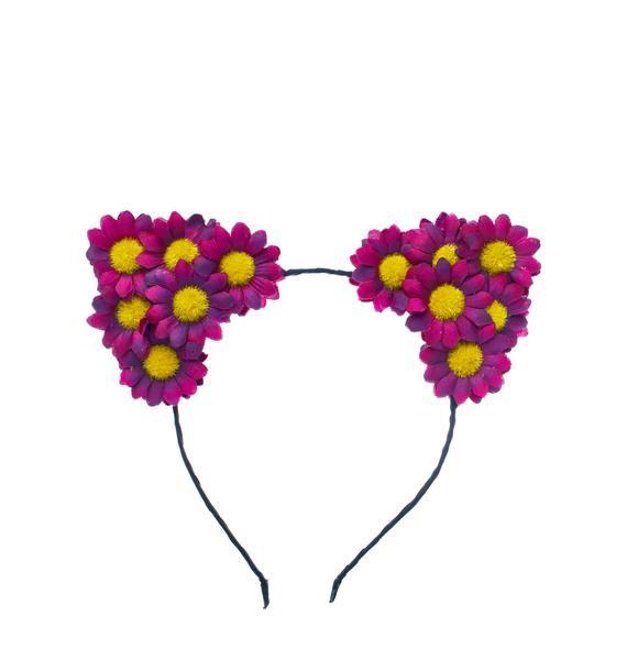 FlowerChild Revolution Crimson Carmella Daisy Cat Ears