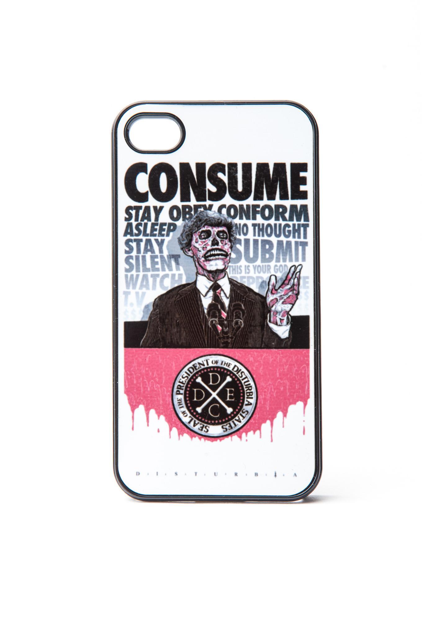 Disturbia Consume iPhone Case
