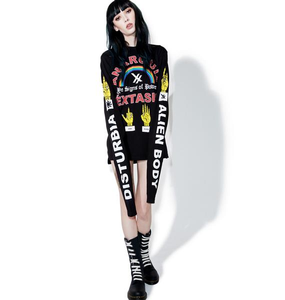 Disturbia Anarquia Long Sleeve Tee