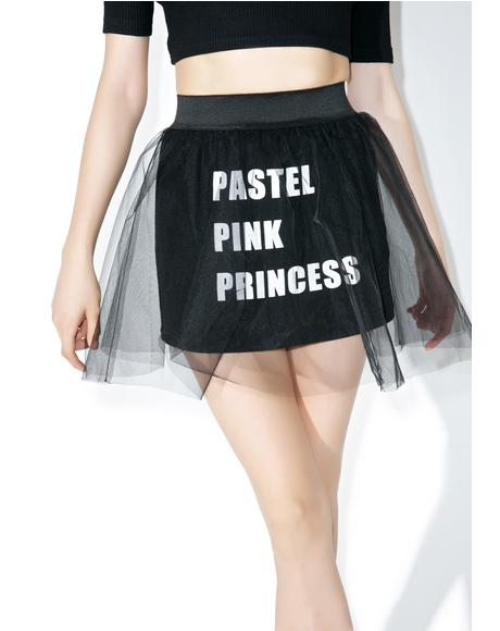 Sheer Logo Skirt