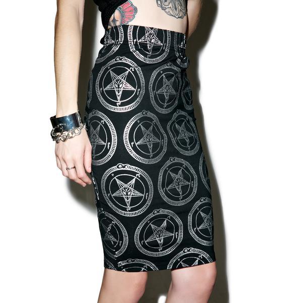 Killstar Baphomet Pencil Skirt