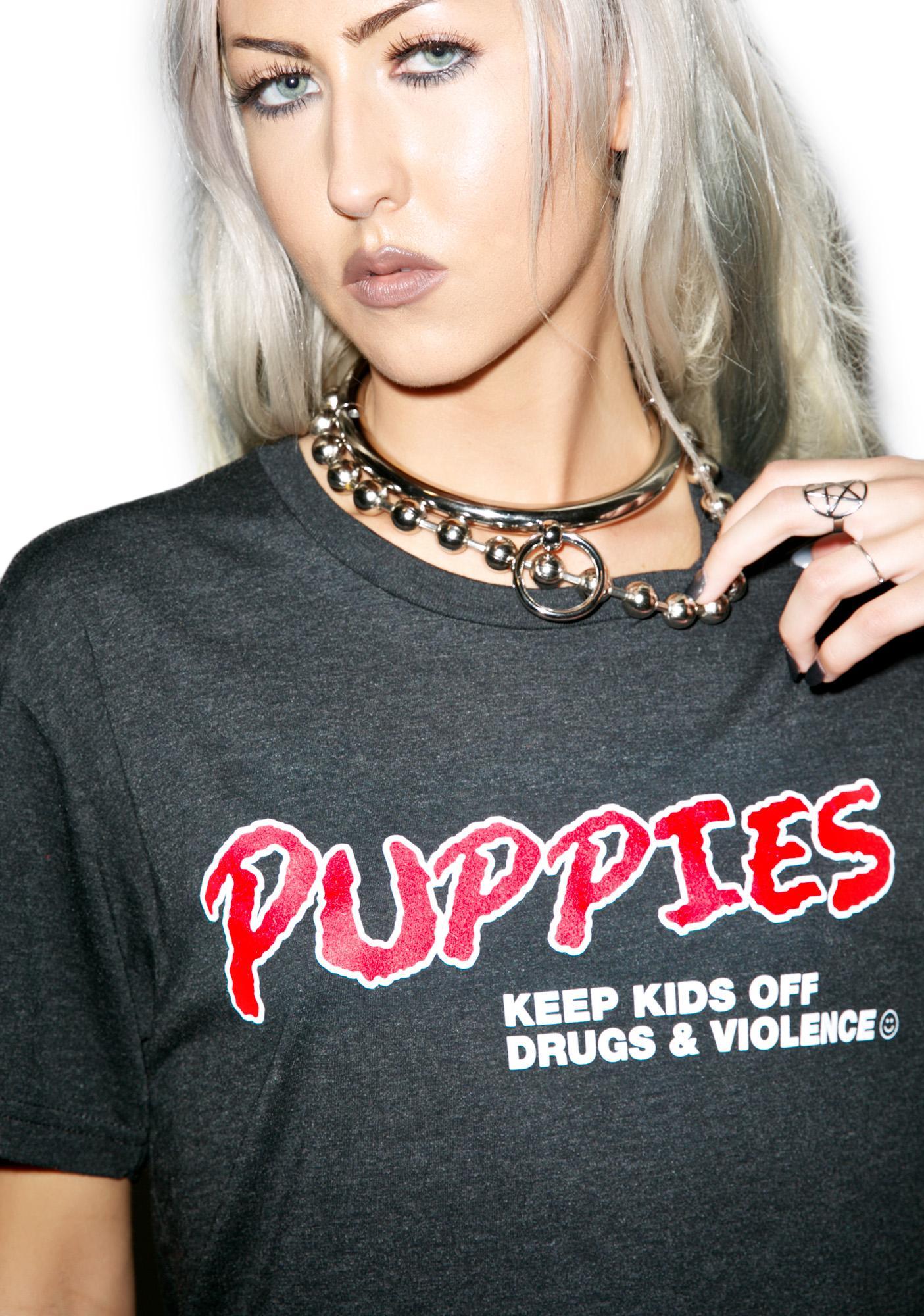 Puppies Make Me Happy Dare Crewneck Tee