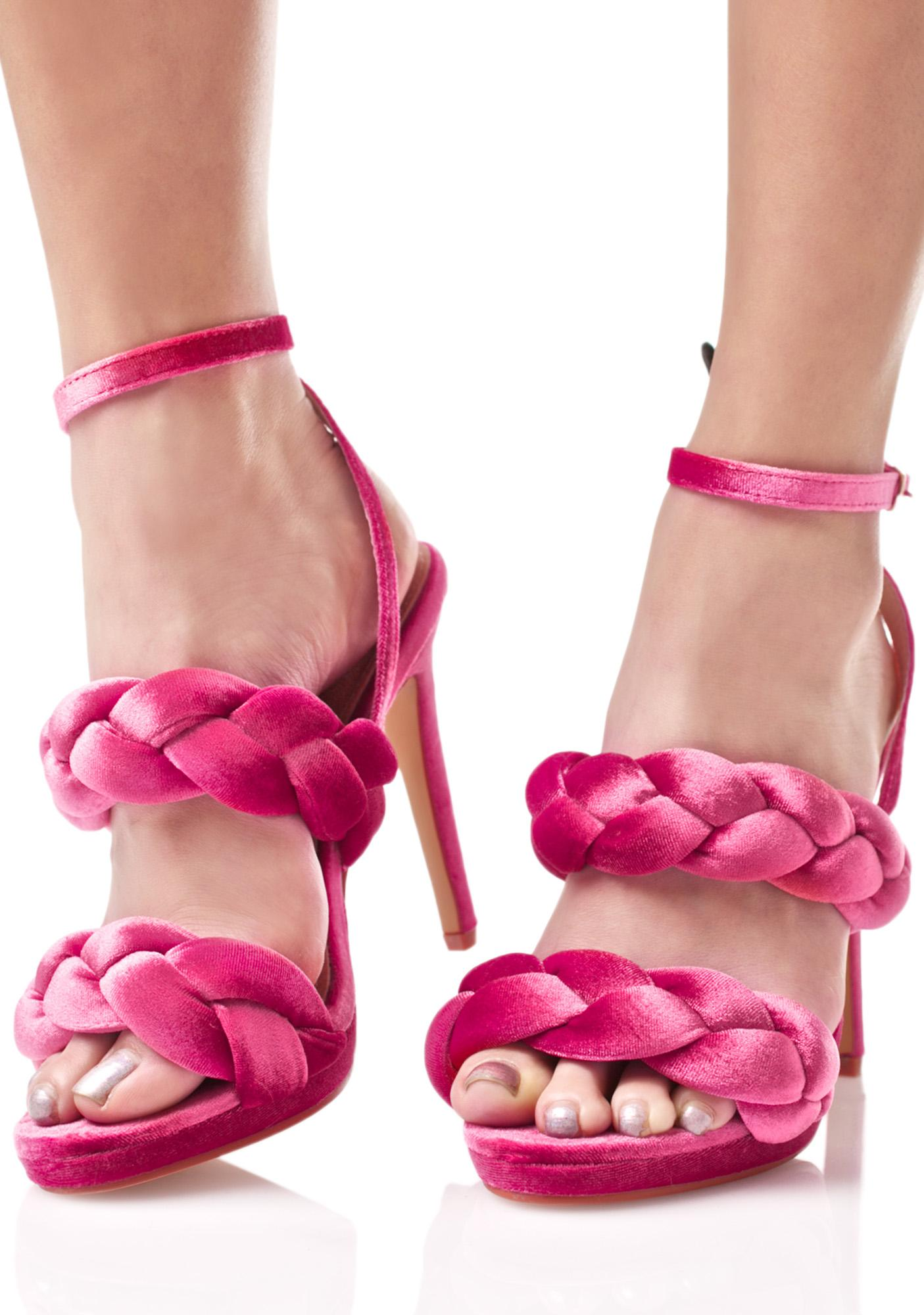 Serpentine Braided Heels