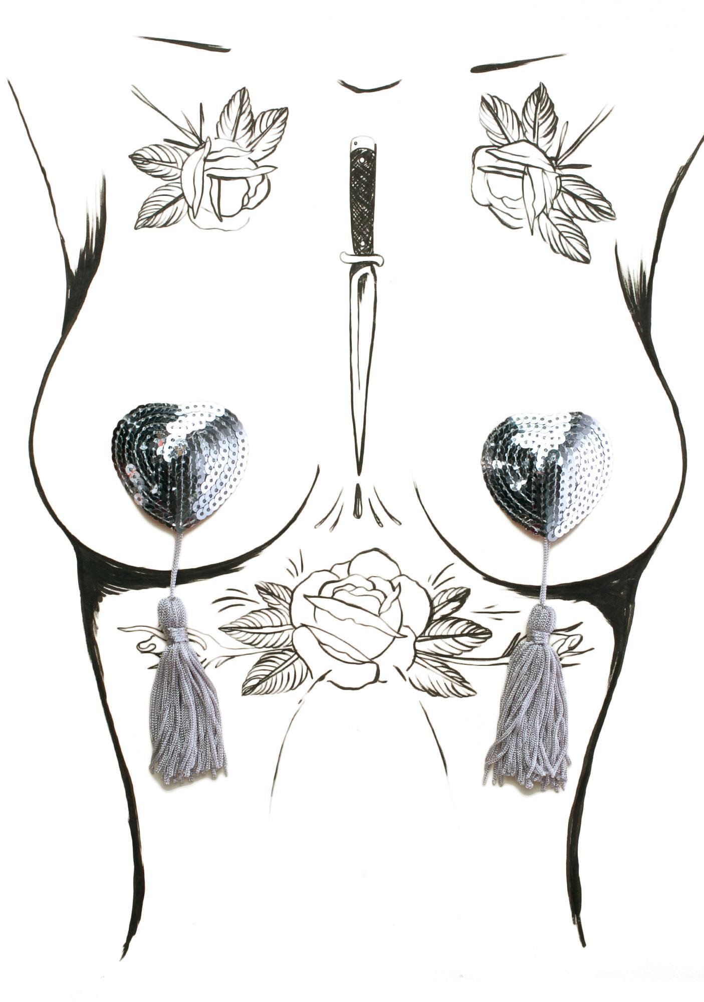Heart Boudoir Tassel Pasties